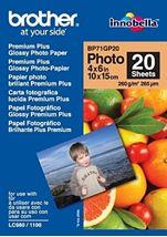 Image de Brother Premium Glossy Photo Paper Blanc papier photos (BP71GP20)
