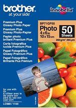 Image de Brother Premium Glossy Photo Paper Blanc papier photos (BP71GP50)