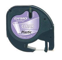 Image de DYMO 12mm LetraTag Plastic Tape ruban d'étiquette (S0721530)