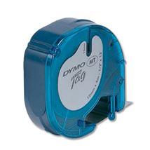 Image de DYMO 12mm LetraTAG Plastic tape ruban d'étiquette (S0721650)