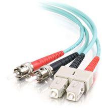 Image de C2G 1m SC ST Turquoise câble de fibre optique (85522)