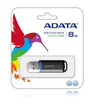 Image de ADATA 8GB C906 8GB USB 2.0 Noir lecteur USB flash (AC906-8G-RBK)