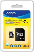 Image de ADATA 4Go MicroSDHC Classe 4 mémoire flash (AUSDH4GCL4-RA1)