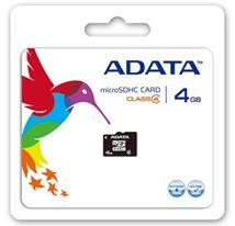 Image de ADATA 4GB microSDHC 4GB MicroSDHC mémoire flash (AUSDH4GCL4-R)