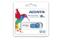 Image de ADATA 8GB C008 8Go USB 2.0 Type A Bleu, Blanc lecteur US ... (AC008-8G-RWE)