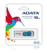 Image de ADATA 16GB C008 16Go USB 2.0 Type A Bleu, Blanc lecteur ... (AC008-16G-RWE)