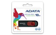 Image de ADATA 16GB C008 16Go USB 2.0 Type A Noir, Rouge lecteur ... (AC008-16G-RKD)