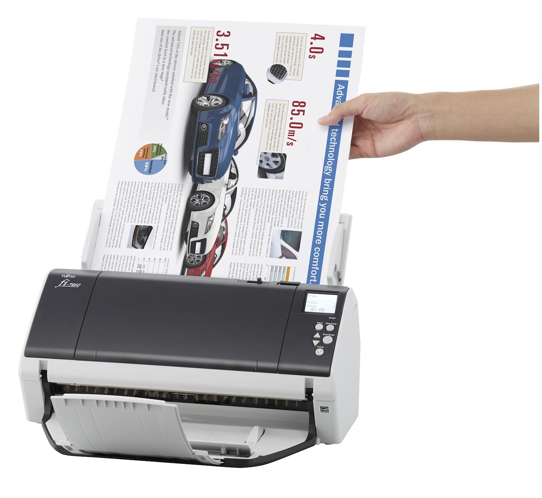 fujitsu fi 7460 adf scanner 600 x 600dpi a4 gris blanc