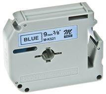 Image de Brother Z Noir sur bleu M ruban d'étiquette (M-K521B)