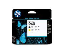 Image de HP 940, tête d'impression noire et jaune authentique (C4900A)