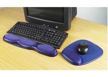 Image de Kensington Repose-poignets en gel pour clavier coloris bleu (64272)
