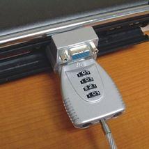 Image de Newstar 2m Argent câble antivol (NSVGALOCK)