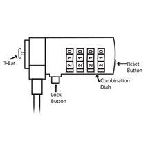 Image de Ewent câble antivol Argent 1,5 m (EW1241)