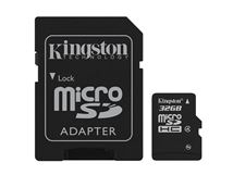 Image de Kingston Technology 32GB microSDHC 32Go MicroSDHC Flash mém ... (SDC4/32GB)