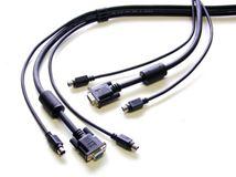 Image de Newstar KVM Switch cable, PS/2 5m Noir câble kvm (SVPS23N1_15)