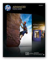 Image de HP Papier photo Advanced brillant sans bordure - 25 feuilles/1 ... (Q8696A)
