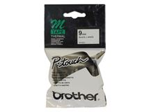 Image de Brother Noir sur blanc M ruban d'étiquette (MK221)