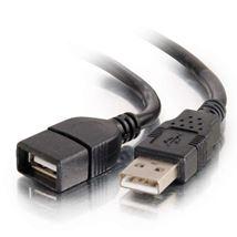 Image de C2G CÂBLE D'EXTENSION USB 2.0 A DE 2 M - NOIR (82107)
