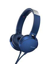 Image de Sony MDR-XB550AP Bandeau Binaural Avec fil Bleu casque et ... (MDRXB550APL)