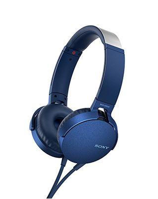Image sur Sony MDR-XB550AP casque et micro Binaural Bandeau Bleu Av ... (MDRXB550APL)