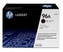Image de HP 96A Black Original LaserJet Toner Cartridge Cartouche de to ... (C4096A)