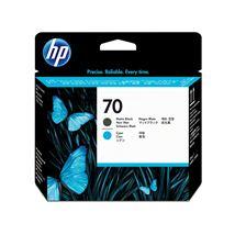 Image de HP 70 tête d'impression DesignJet noir mat et cyan (C9404A)