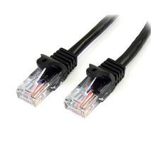 Image de StarTech.com Câble réseau Cat5e sans crochet de 50 cm - N ... (45PAT50CMBK)