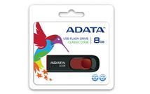 Image de ADATA 8GB C008 8Go USB 2.0 Type A Noir, Rouge lecteur US ... (AC008-8G-RKD)