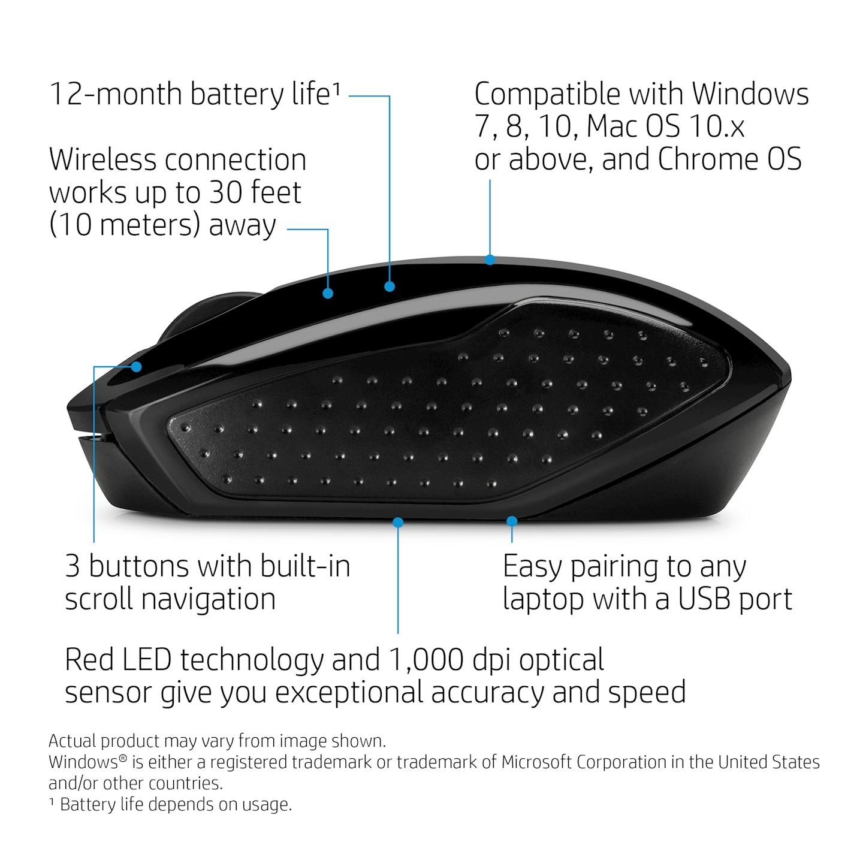 HP 200 mice (X6W31AA ABB). Open iT - Informatique et Haute technologie 72300c1cbf3d