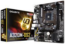 Image de Gigabyte AMD A320 Socket AM4 Micro ATX carte mère (GA-A320M-DS2)
