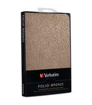 """Image de Verbatim 7"""" Folio case Bronze étui pour tablette (98077)"""