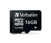 Image de Verbatim Premium mémoire flash 16 Go MicroSDHC Classe 10 (44010)