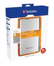 Image de Verbatim Store 'n' Go disque dur externe 500 Go Argent (53021)