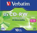 Image de Verbatim CD-RW 12x CD-RW 700Mo 10pièce(s) (43148)