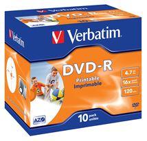 Image de Verbatim DVD vierge 4,7 Go DVD-R 10 pièce(s) (43521)
