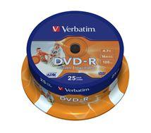 Image de Verbatim DVD vierge 4,7 Go DVD-R 25 pièce(s) (43538)