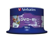 Image de Verbatim DVD+R Wide Inkjet Printable No ID Brand 4,7 Go 50 pièc ... (43512)