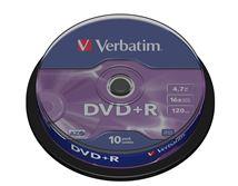 Image de Verbatim DVD+R Matt Silver 4,7 Go 10 pièce(s) (43498)