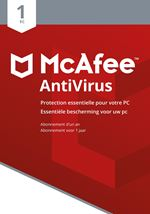 Image de McAfee AntiVirus 2018, 1 Device (Dutch / French) (MAB00MNR1RAA)