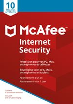 Image de McAfee  Internet Security 10 Device NL-FR (MIS00MNRXRAA)