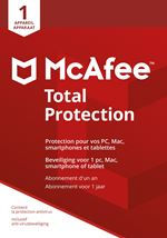 Image de McAfee Total Protection 2018, 1 Device (Dutch / French) (MTP00MNR1RAA)
