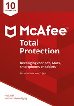 Image de McAfee Total Protection 2018, 10 Devices (Dutch) (MTP00DNRXRAA)