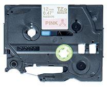 Image de Brother ruban d'étiquette Or sur rose (TZE-RE34)