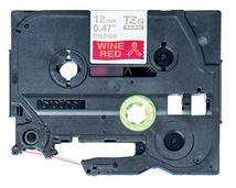 Image de Brother ruban d'étiquette Doré sur rouge (TZE-RW34)