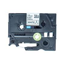 Image de Brother Noir sur blanc TZe ruban d'étiquette (TZE-R231)