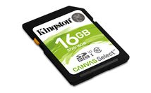 Image de Kingston Technology Canvas Select 16Go SDHC UHS-I Classe 10 ... (SDS/16GB)