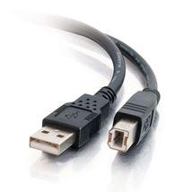 Image de C2G Câble USB 2.0 A/B de 1M - Noir (81565)