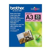 Image de Brother Inkjet Paper A3 (297×420 mm) Mat Blanc papier jet d' ... (BP60MA3)