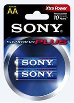 Image de Sony Alk Stamina Plus LR6-AA x2 pcs Alcaline 1.5V pile non-re ... (AM3-P2A)