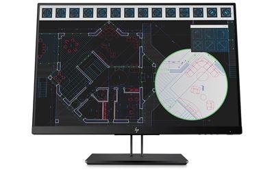 """Image sur HP Z24i G2 61 cm (24"""") 1920 x 1200 pixels WUXGA LED Plat Noir (1JS08A4)"""